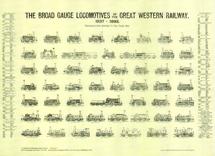 Watermarked GWR Broad Gauge Locomotives - 1837 to 1892
